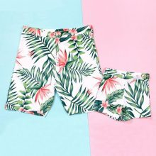 Palm Leaf Printed Family Matching Swimwear